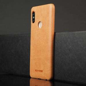 Чехол накладка текстурная отделка Кожа для Xiaomi RedMi Note 5/5 Pro Бежевый
