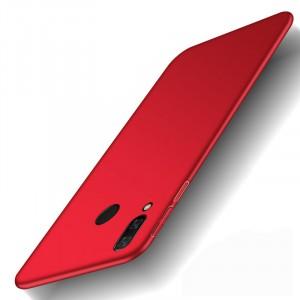 Пластиковый непрозрачный матовый чехол с улучшенной защитой элементов корпуса для Xiaomi RedMi Note 7  Красный