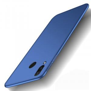 Пластиковый непрозрачный матовый чехол с улучшенной защитой элементов корпуса для Xiaomi RedMi Note 7  Синий