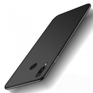Пластиковый непрозрачный матовый чехол с улучшенной защитой элементов корпуса для Xiaomi RedMi Note 7  Черный