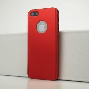 Двухкомпонентный сборный пластиковый матовый чехол для Iphone 5s Красный