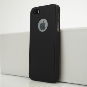 Двухкомпонентный сборный пластиковый матовый чехол для Iphone 5s Черный