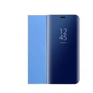 Пластиковый непрозрачный матовый чехол с полупрозрачной крышкой с зеркальным покрытием для Huawei Honor 10 lite Синий