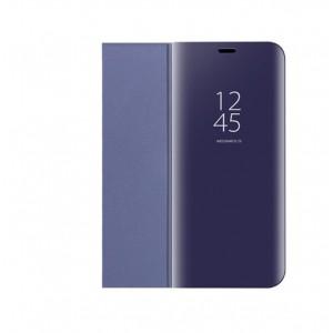 Пластиковый непрозрачный матовый чехол с полупрозрачной крышкой с зеркальным покрытием для Huawei Honor 10 lite Фиолетовый
