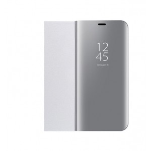 Пластиковый непрозрачный матовый чехол с полупрозрачной крышкой с зеркальным покрытием для Huawei Honor 10 lite Серый