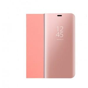 Пластиковый непрозрачный матовый чехол с полупрозрачной крышкой с зеркальным покрытием для Huawei Honor 10 lite Розовый
