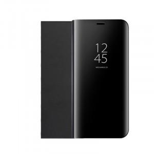 Пластиковый непрозрачный матовый чехол с полупрозрачной крышкой с зеркальным покрытием для Huawei Honor 10 lite Черный