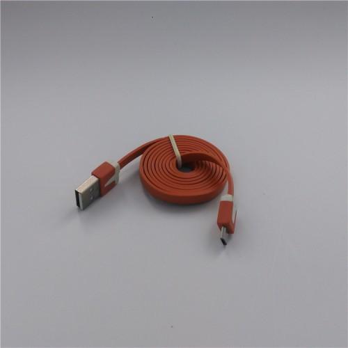 Кабель USB-Micro USB 2.0 силиконовый антизапутывающийся плоского сечения 1м Белый