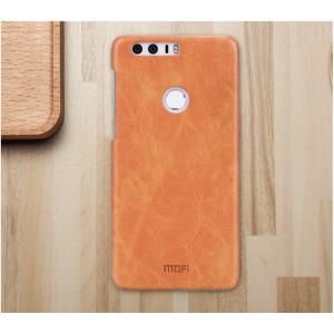 Чехол накладка текстурная отделка Винтажная кожа для Huawei Honor 8 Бежевый