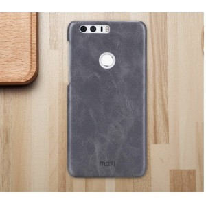 Чехол накладка текстурная отделка Винтажная кожа для Huawei Honor 8 Черный