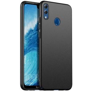 Пластиковый непрозрачный матовый чехол для Huawei Honor 8X Черный