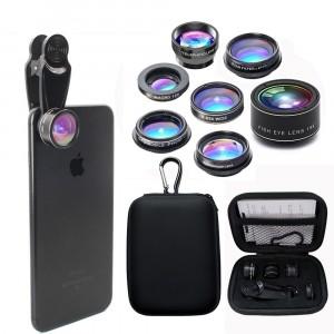 Комплект из 10 объективов на клипсе с защитным кейсом на карабине
