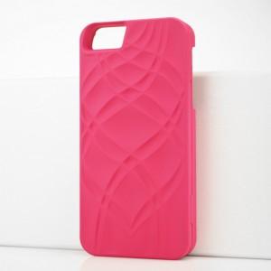 Складной пластиковый непрозрачный матовый чехол с отсеком для карт и зеркалом для Iphone 5s Пурпурный