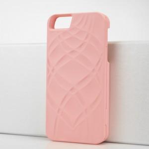 Складной пластиковый непрозрачный матовый чехол с отсеком для карт и зеркалом для Iphone 5s Розовый