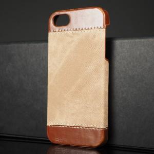 Чехол накладка текстурная отделка Ткань для Iphone 5s/5/SE Коричневый