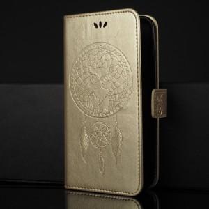 Чехол портмоне подставка текстура Узоры на силиконовой основе с отсеком для карт на магнитной защелке для ASUS ZenFone Max Бежевый