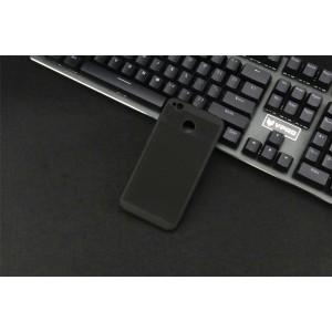 Пластиковый полупрозрачный матовый чехол с улучшенной защитой элементов корпуса и текстурным покрытием Точки для Xiaomi RedMi 4A Черный