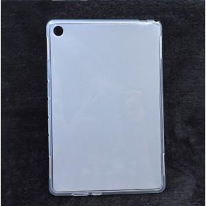 Силиконовый матовый полупрозрачный чехол для Huawei MediaPad M5 Lite Белый