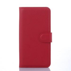 Чехол портмоне на пластиковой основе с отсеком для карт на магнитной защелке для Samsung Galaxy S6 Красный