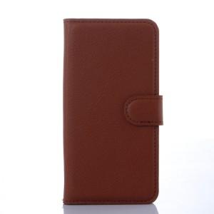 Чехол портмоне на пластиковой основе с отсеком для карт на магнитной защелке для Samsung Galaxy S6 Коричневый