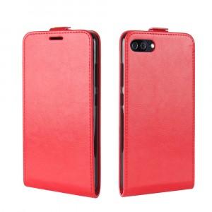 Винтажный чехол вертикальная книжка на силиконовой основе с отсеком для карт на магнитной защелке для Asus ZenFone 4 Max Красный
