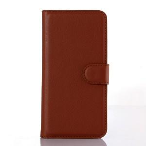 Чехол портмоне подставка на силиконовой основе с отсеком для карт на магнитной защелке для Iphone 6/6s Коричневый