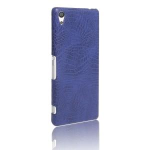Чехол накладка текстурная отделка Кожа Крокодила для Sony Xperia XA Ultra Синий