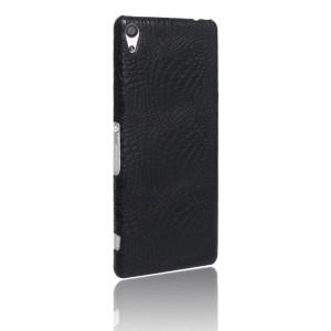 Чехол накладка текстурная отделка Кожа Крокодила для Sony Xperia XA Ultra Черный