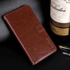 Глянцевый водоотталкивающий чехол портмоне подставка на силиконовой основе с отсеком для карт на магнитной защелке для Iphone x10 Коричневый