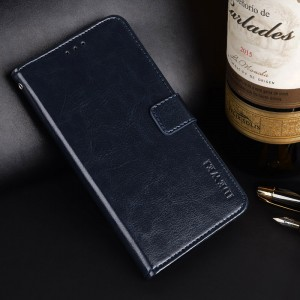 Глянцевый водоотталкивающий чехол портмоне подставка на силиконовой основе с отсеком для карт на магнитной защелке для Iphone x10 Синий