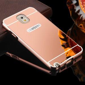 Двухкомпонентный чехол c металлическим бампером с поликарбонатной накладкой и зеркальным покрытием для Samsung Galaxy Note 3