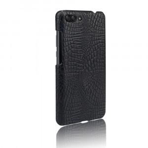 Чехол накладка текстурная отделка Кожа Крокодила для Asus ZenFone 4 Max Черный