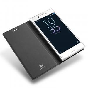 Чехол флип подставка на силиконовой основе для Sony Xperia XZ/XZs Черный