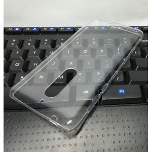 Силиконовый глянцевый транспарентный чехол для Nokia 5