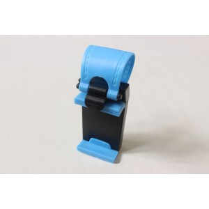 Универсальный автомобильный держатель на руль для гаджетов 55-75 мм Голубой