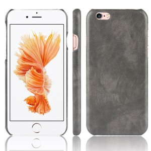 Чехол накладка текстурная отделка Кожа для Iphone 6/6s Серый