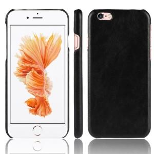 Чехол накладка текстурная отделка Кожа для Iphone 6/6s Черный
