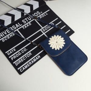 Чехол-сумка из искуственной кожи с двумя внутренними отсеками и прозрачной задней частью Синий