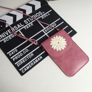 Чехол-сумка из искуственной кожи с двумя внутренними отсеками и прозрачной задней частью Розовый
