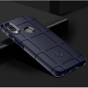 Силиконовый матовый непрозрачный чехол с текстурным покрытием Клетка для Xiaomi RedMi Note 7 Синий