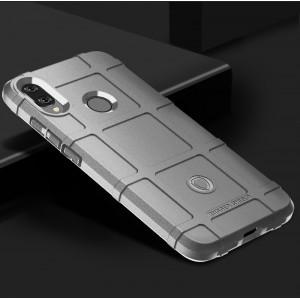 Силиконовый матовый непрозрачный чехол с текстурным покрытием Клетка для Xiaomi RedMi Note 7 Белый