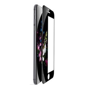 Полноэкранное ультратонкое износоустойчивое сколостойкое олеофобное защитное стекло-пленка для Iphone 8 Plus  Черный