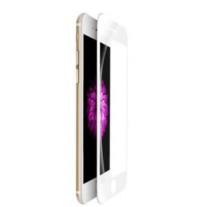 Полноэкранное ультратонкое износоустойчивое сколостойкое олеофобное защитное стекло-пленка для Iphone 8 Plus  Белый