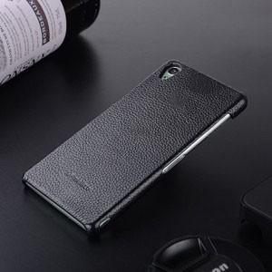 Кожаный чехол накладка Back Cover для Sony Xperia Z3