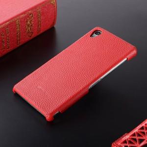 Кожаный чехол накладка Back Cover для Sony Xperia Z3 Красный