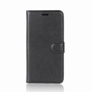Чехол портмоне подставка на силиконовой основе с отсеком для карт на магнитной защелке для Doogee BL12000 Черный