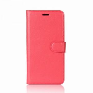 Чехол портмоне подставка на силиконовой основе с отсеком для карт на магнитной защелке для Alcatel 3C Красный
