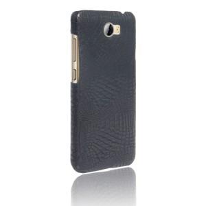 Чехол накладка текстурная отделка Кожа Крокодила для Huawei Honor 5A Черный