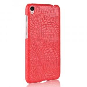 Чехол накладка текстурная отделка Кожа Крокодила для Asus ZenFone Live Красный