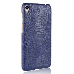 Чехол накладка текстурная отделка Кожа Крокодила для Asus ZenFone Live Синий